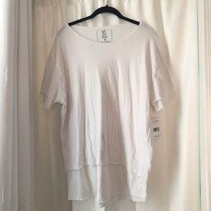 Free People We The Free Cloud 9 Tee in White